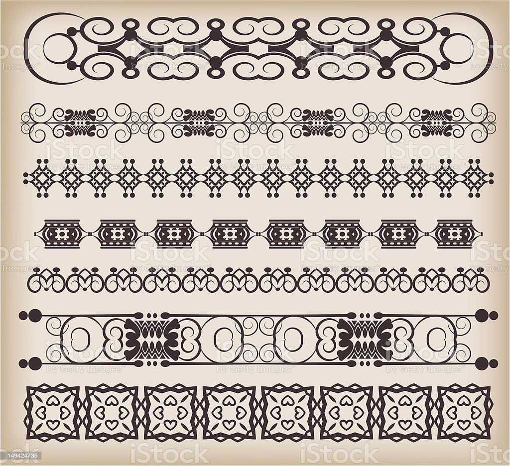 design element. vintage decorative objects. royalty-free stock vector art