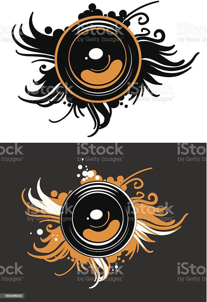 design element with a speaker vector art illustration