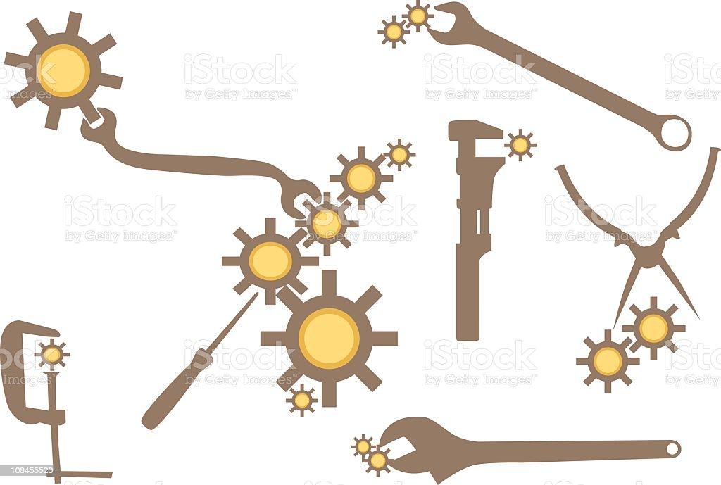 Design Element - Workman's tools royalty-free stock vector art