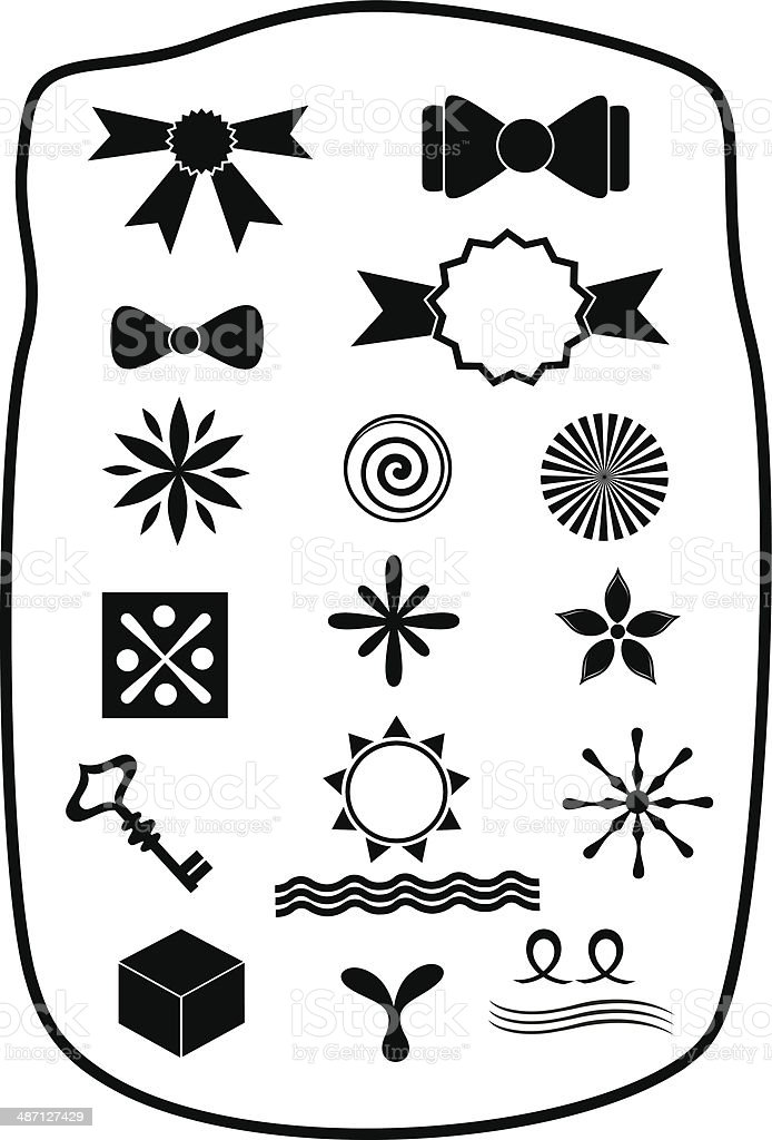 Design elements and symbols royalty-free stock vector art