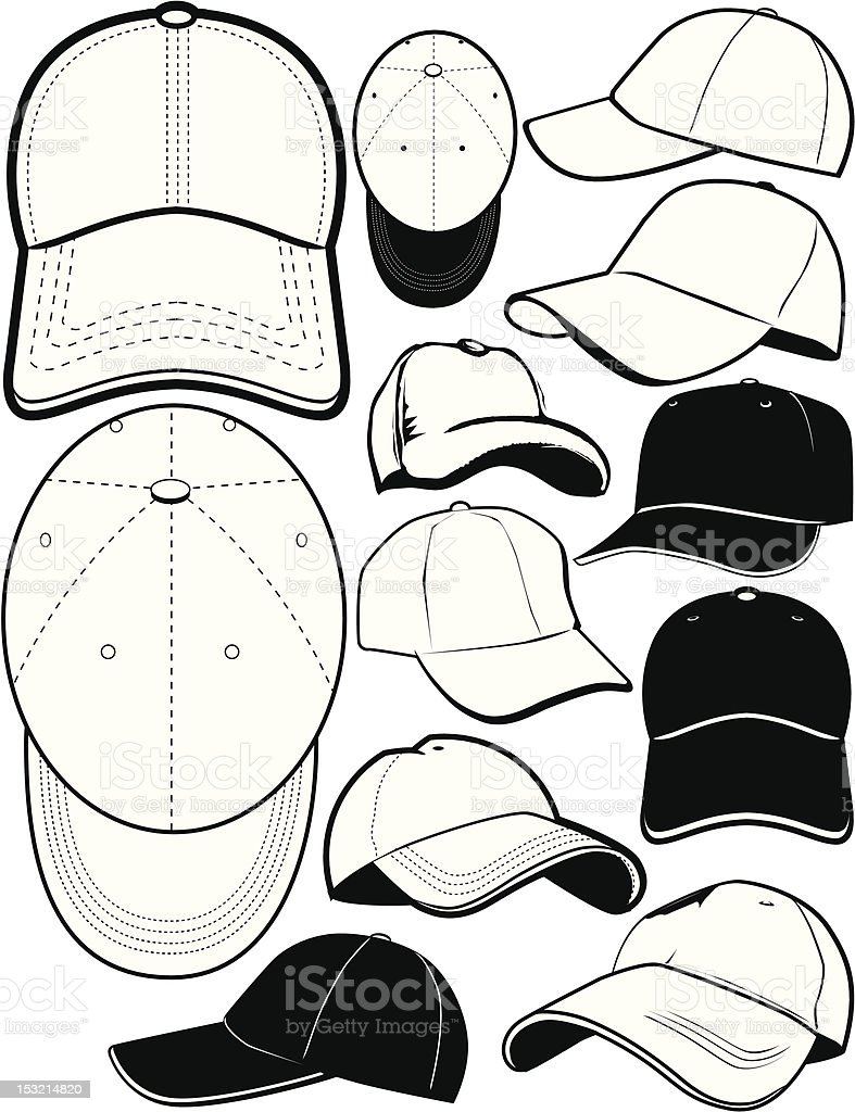 Design Elements - Ball Caps vector art illustration