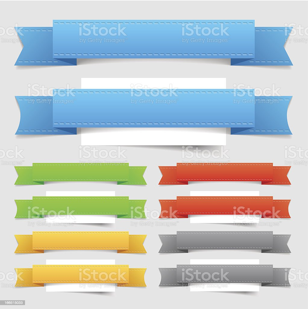 Design elements: banners royalty-free stock vector art