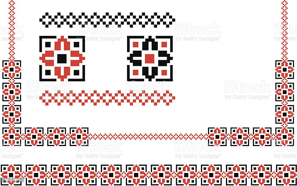 design elements - black & red vector art illustration