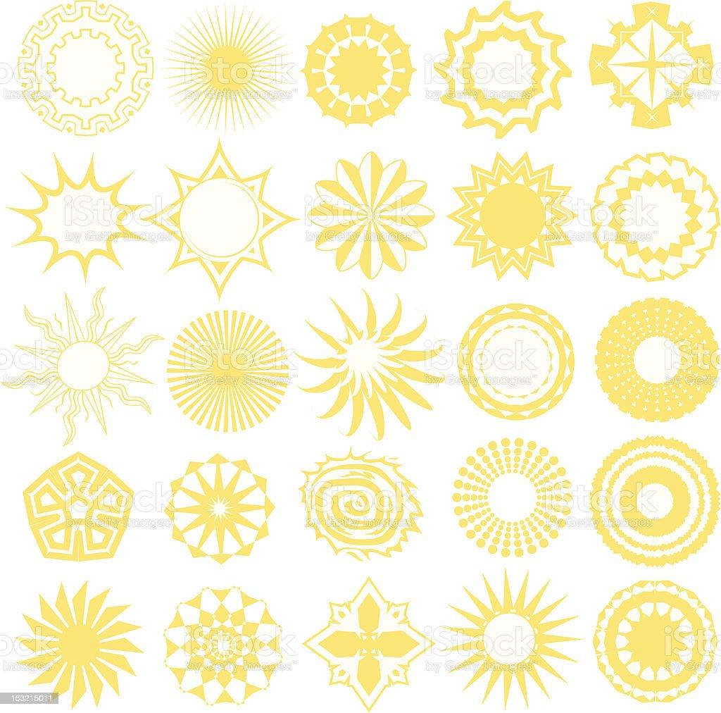 Design Elements - Bursts & Circular Designs royalty-free stock vector art