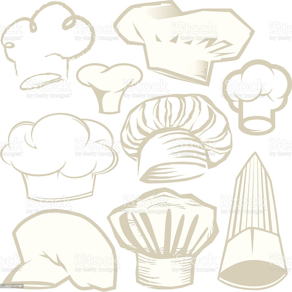 Design Elements - Chef Hats royalty-free stock vector art