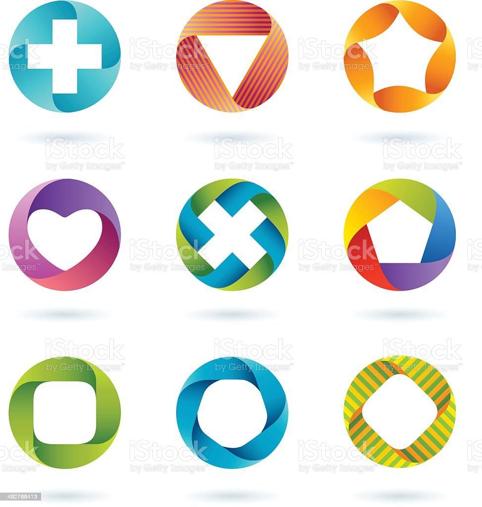 Design Elements | circle set #3 vector art illustration