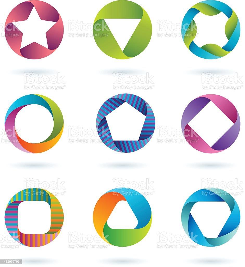 Design Elements | circle set #2 vector art illustration