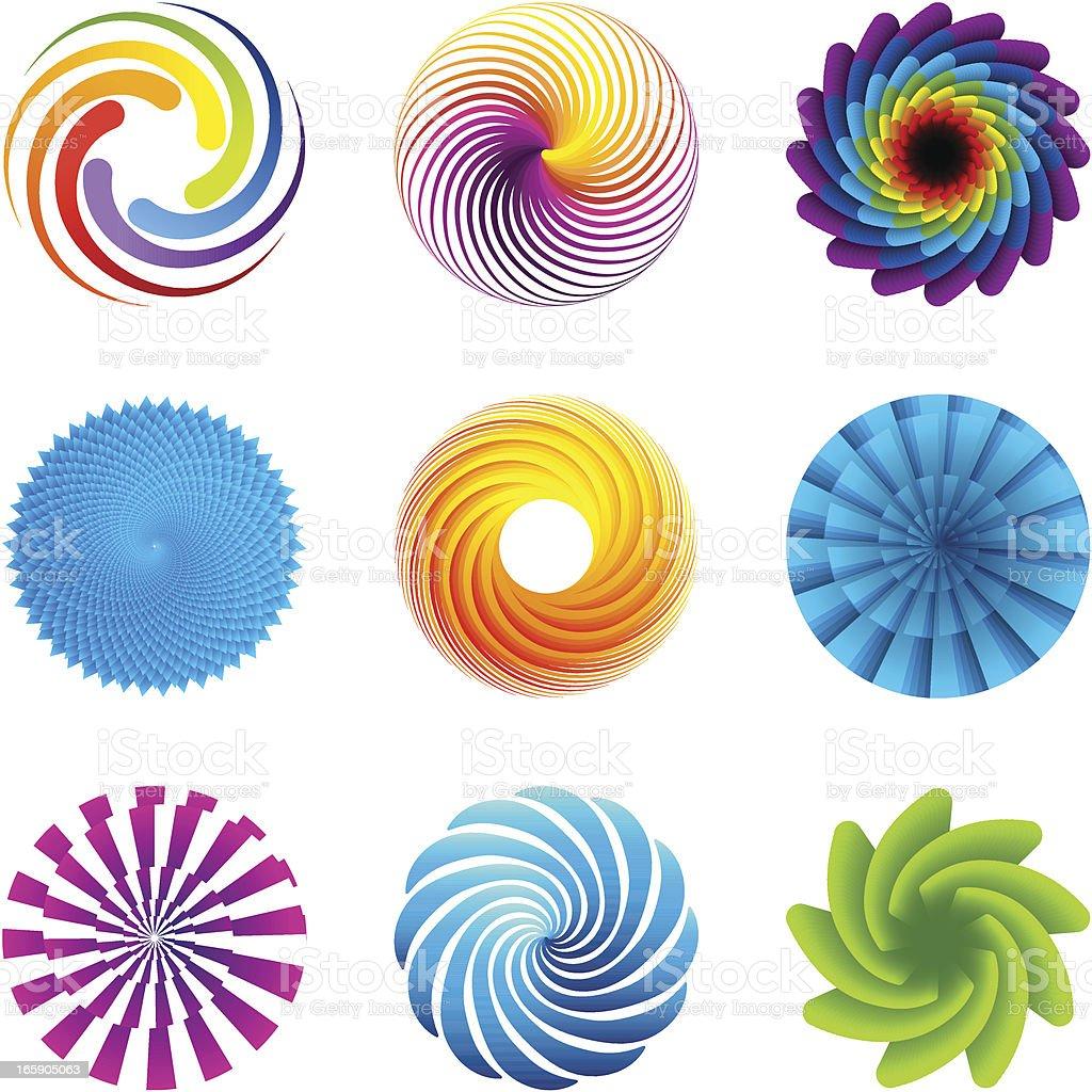 Design Elements | circles set royalty-free stock vector art