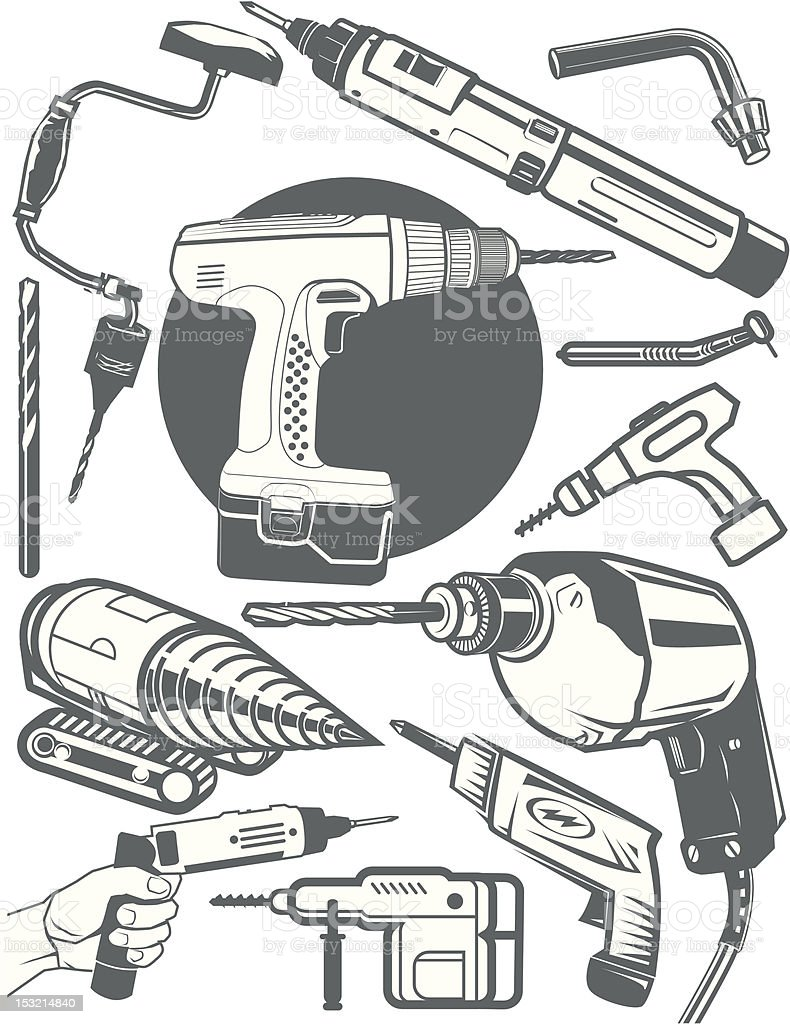 Design Elements - Drills royalty-free stock vector art