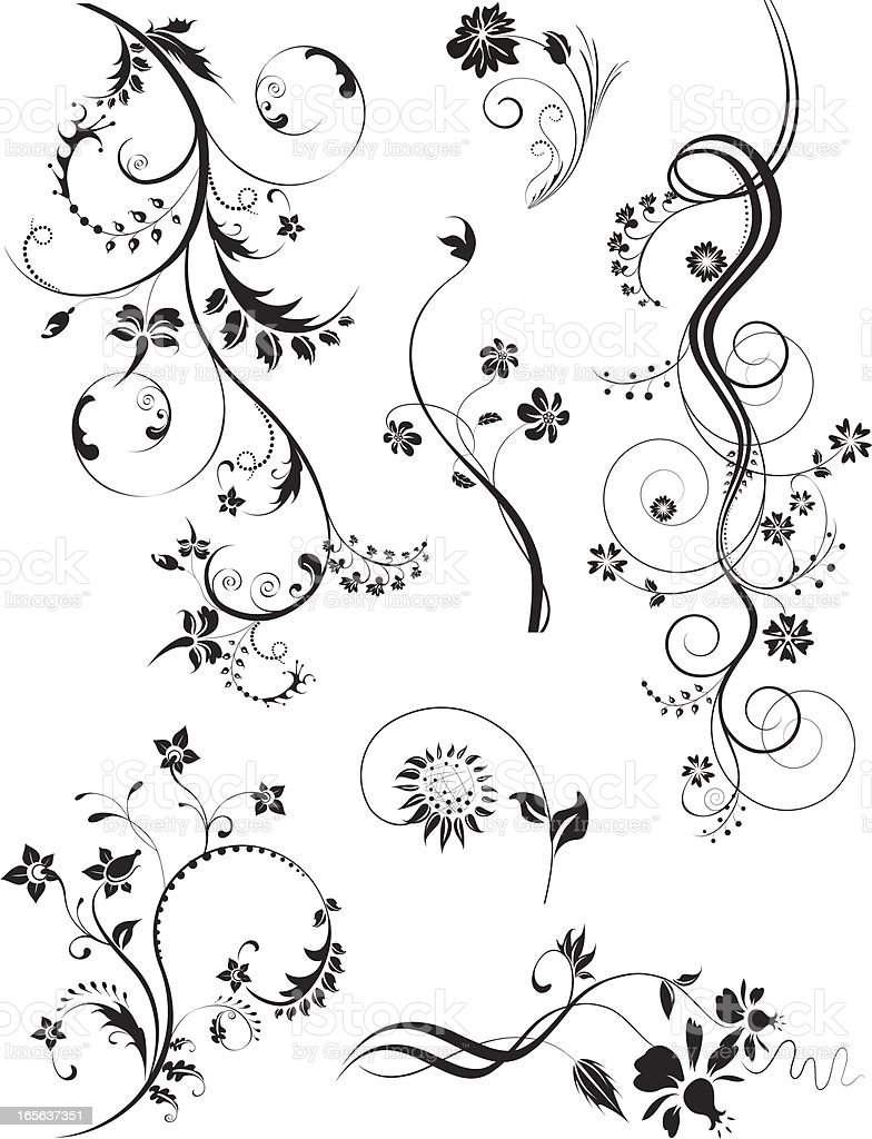 Design Elements - Florals royalty-free stock vector art