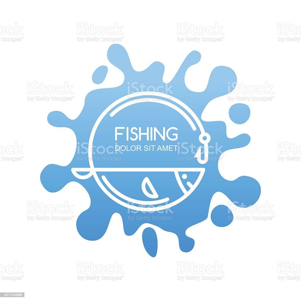 Design elements for fishing shop, camp or fishing gear. vector art illustration