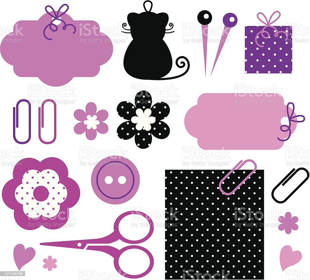 Design elements for handmade fashion royalty-free stock vector art