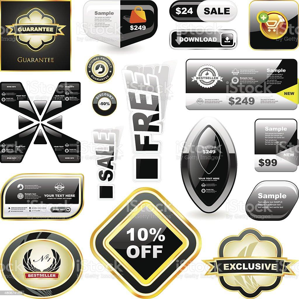 Design elements for sale. vector art illustration