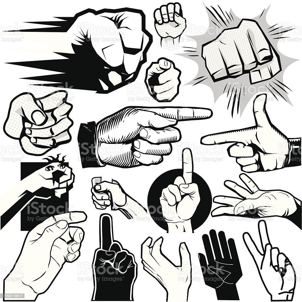 Design Elements - Hands vector art illustration