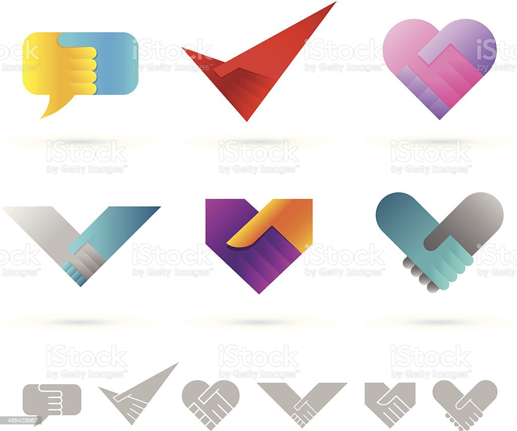 Design elements | Handshake vector art illustration