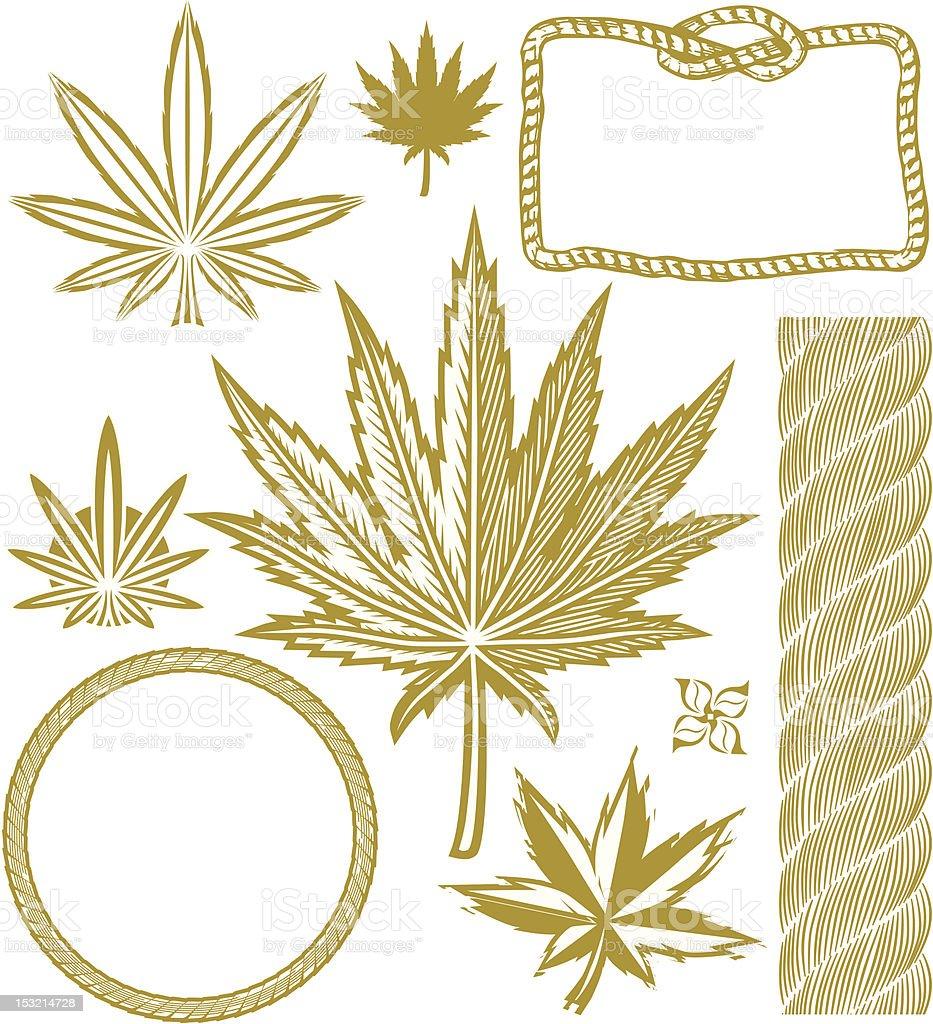 Design Elements - Hemp vector art illustration