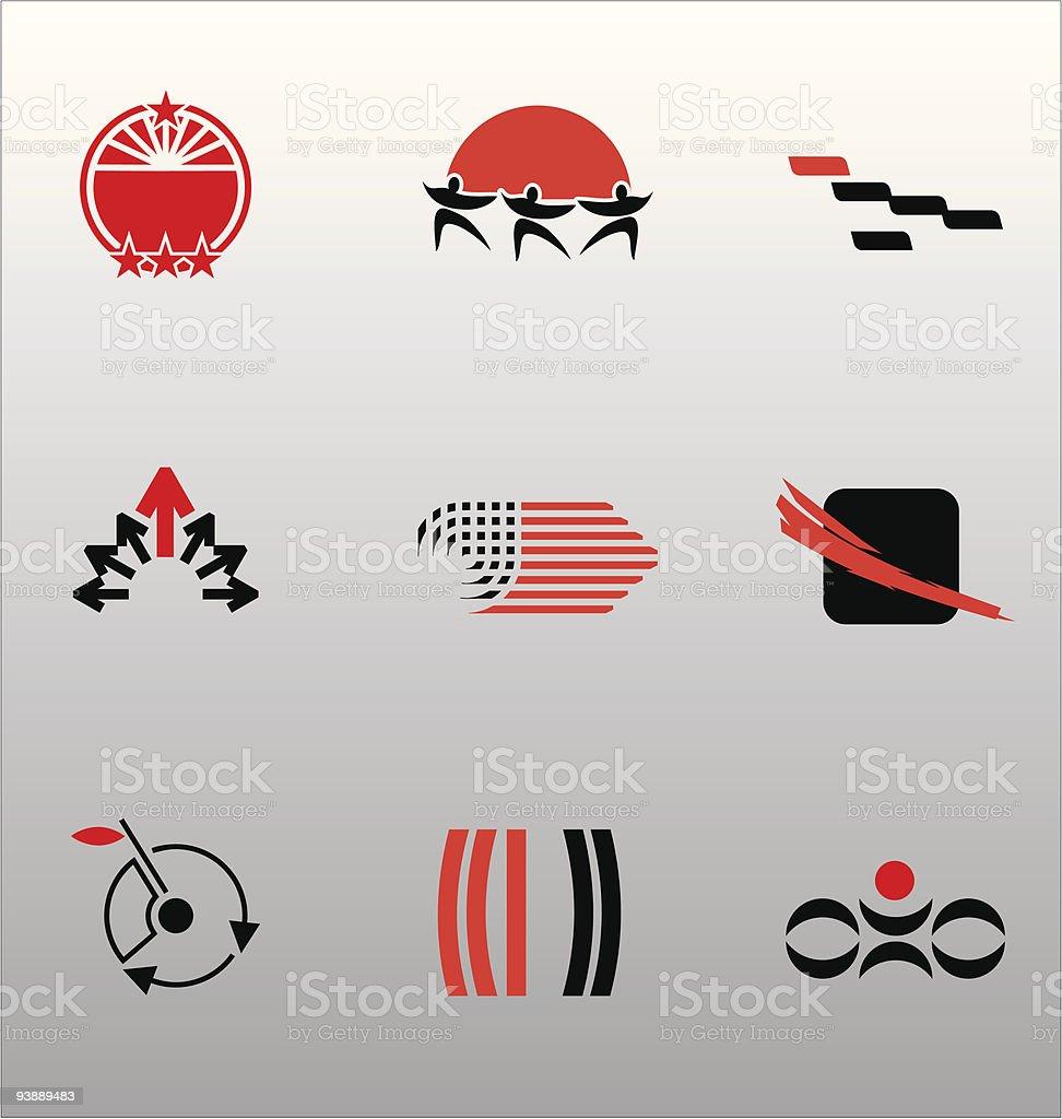 Design Elements - Icon Set (5) vector art illustration