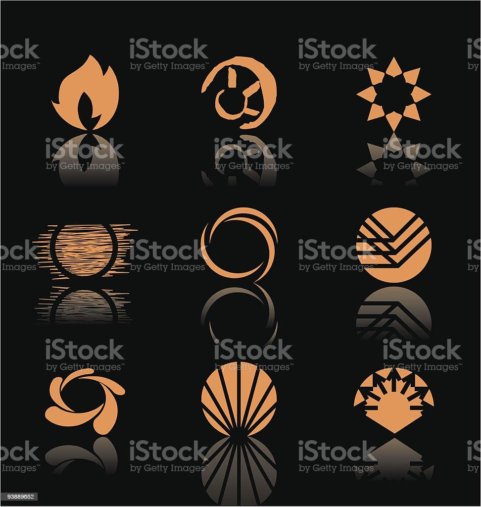 Design Elements - Icon Set (3) vector art illustration