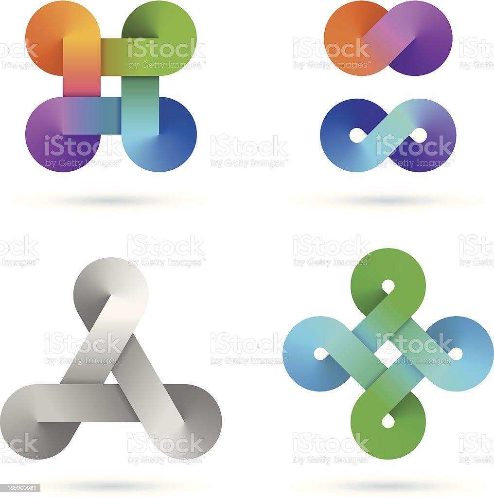 Design Elements | infinity gradient set royalty-free stock vector art