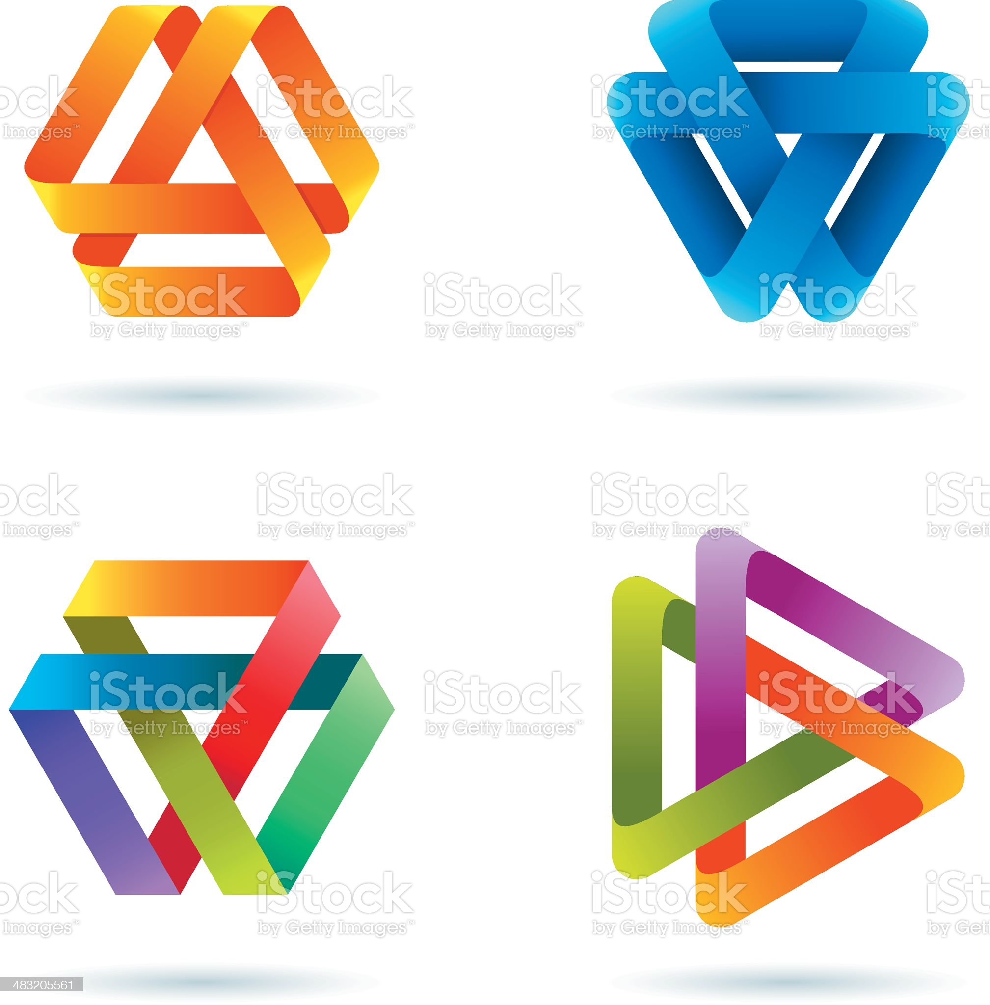 Design Elements   infinity triangle royalty-free stock vector art