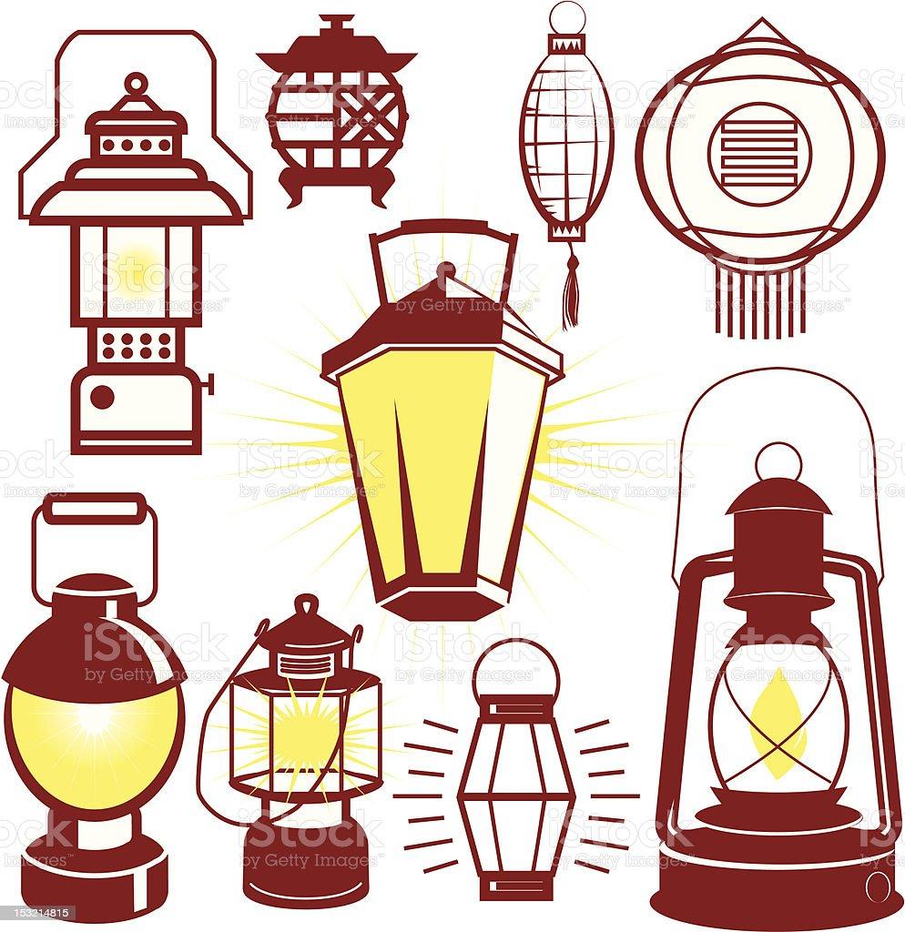 Design Elements - Lanterns vector art illustration