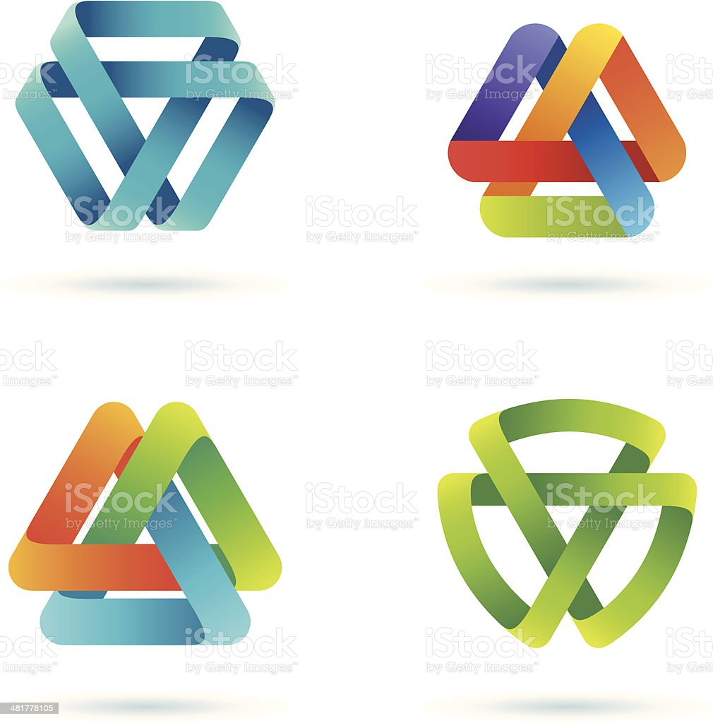 Design Elements | Mobius stripe royalty-free stock vector art