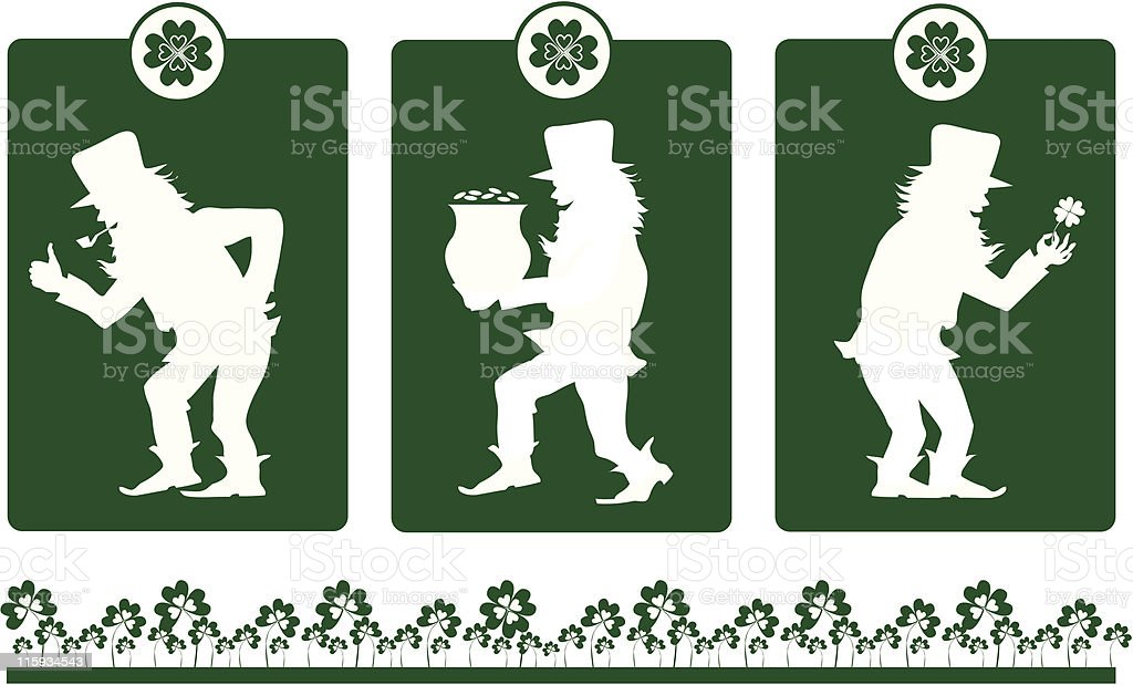 Design elements on St Patrick's Day royalty-free stock vector art