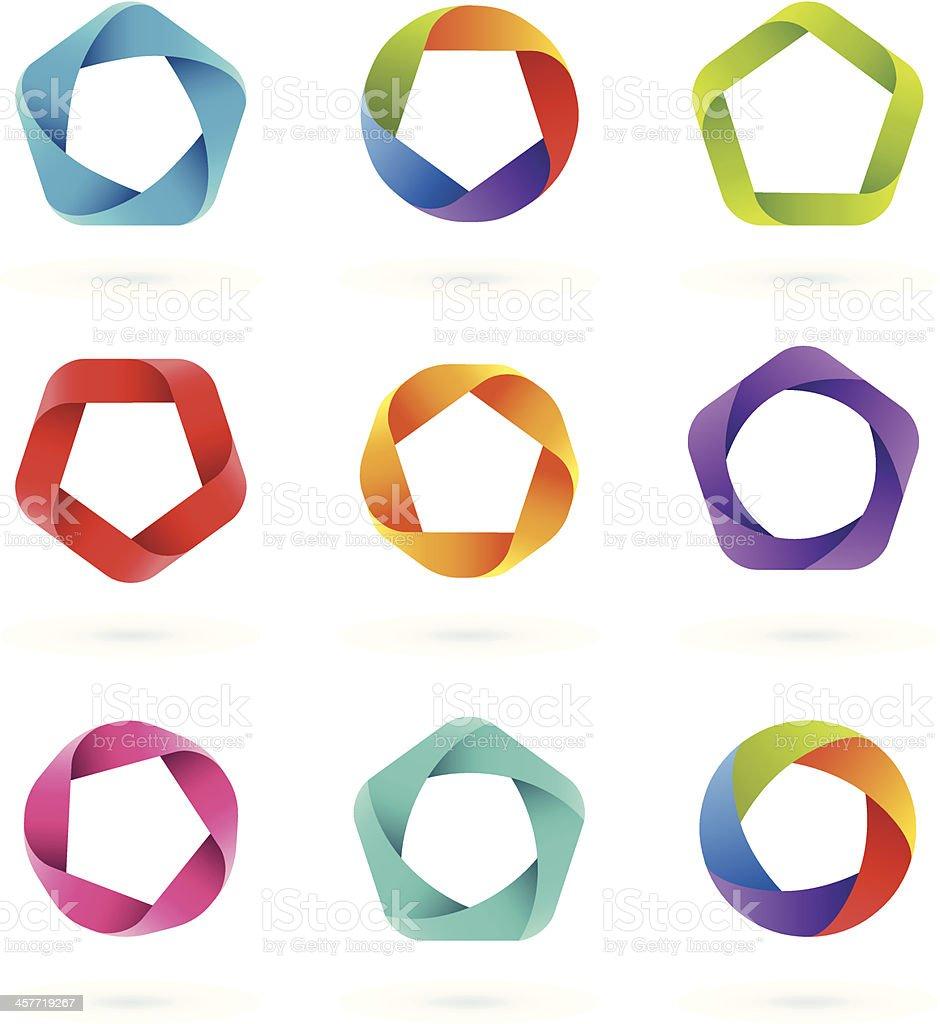 Design Elements | PENTAGON vector art illustration