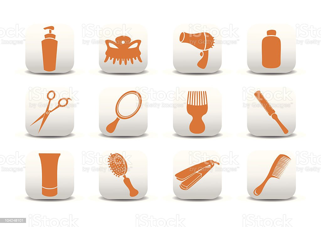 design elements relating to hairdressing salon royalty-free stock vector art