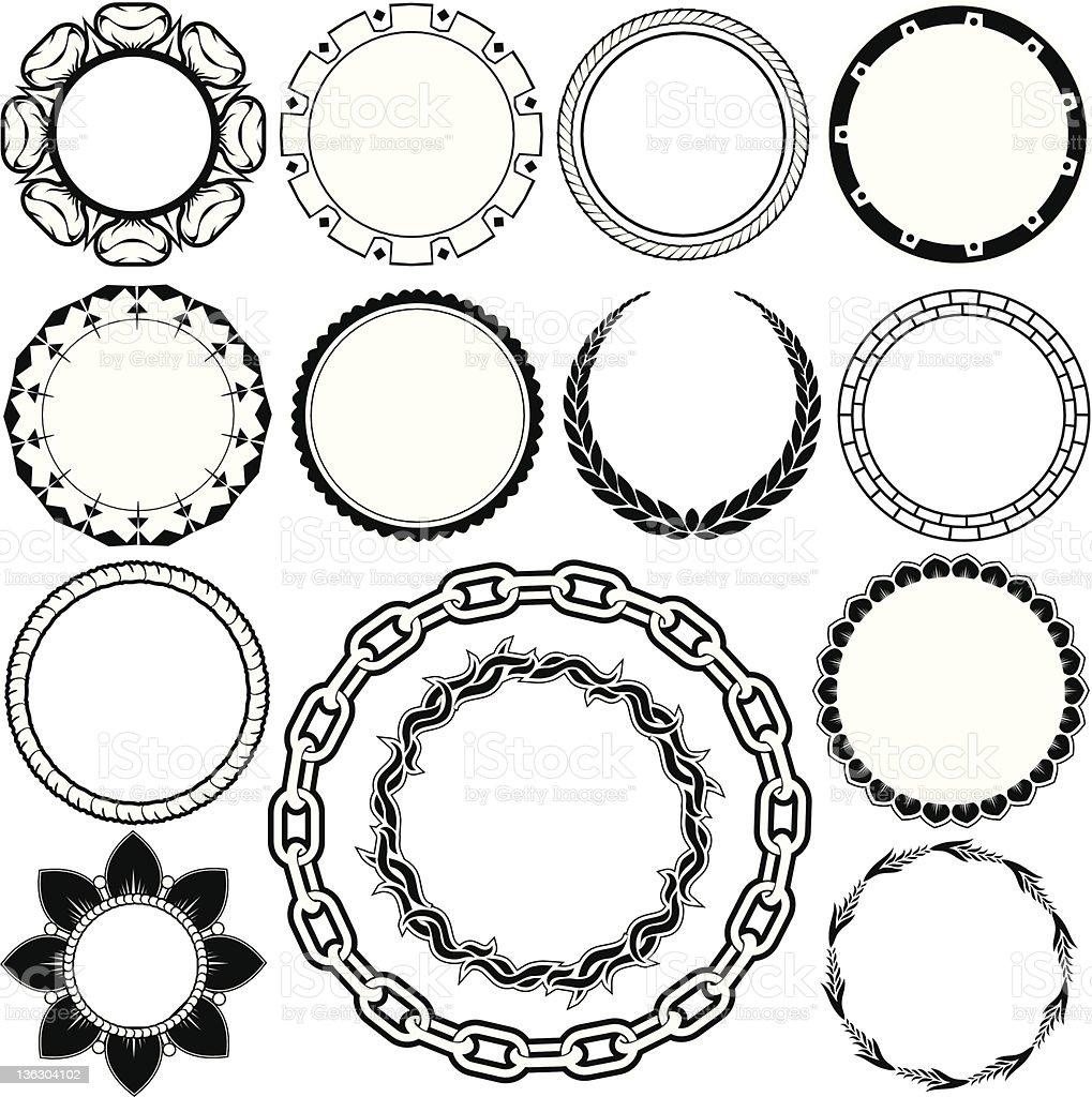 Design Elements - Rings & Circlets royalty-free stock vector art