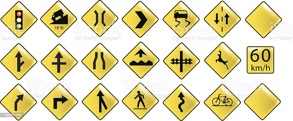 Design Elements: Road Signs royalty-free stock vector art