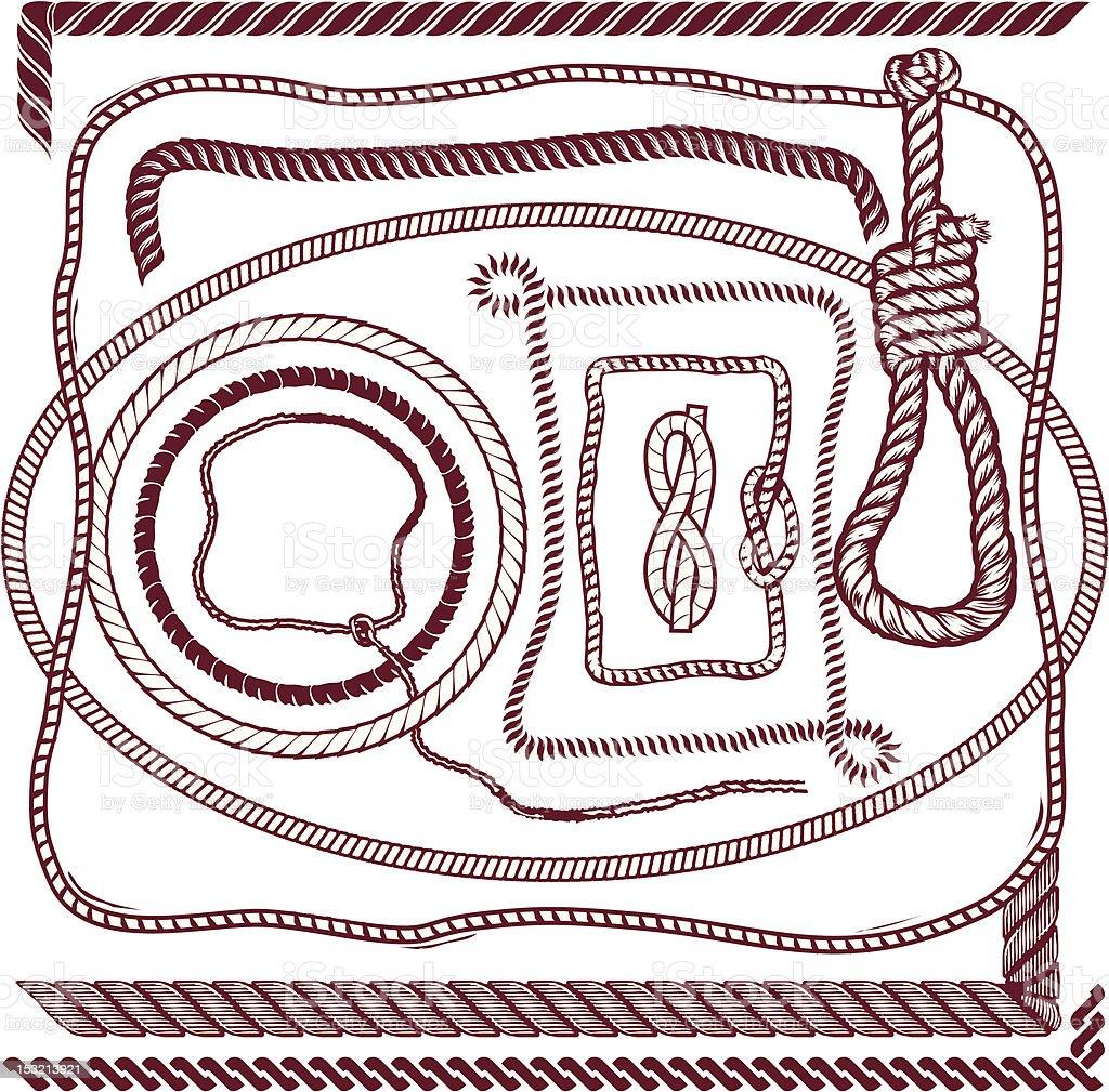 Design Elements - Rope vector art illustration