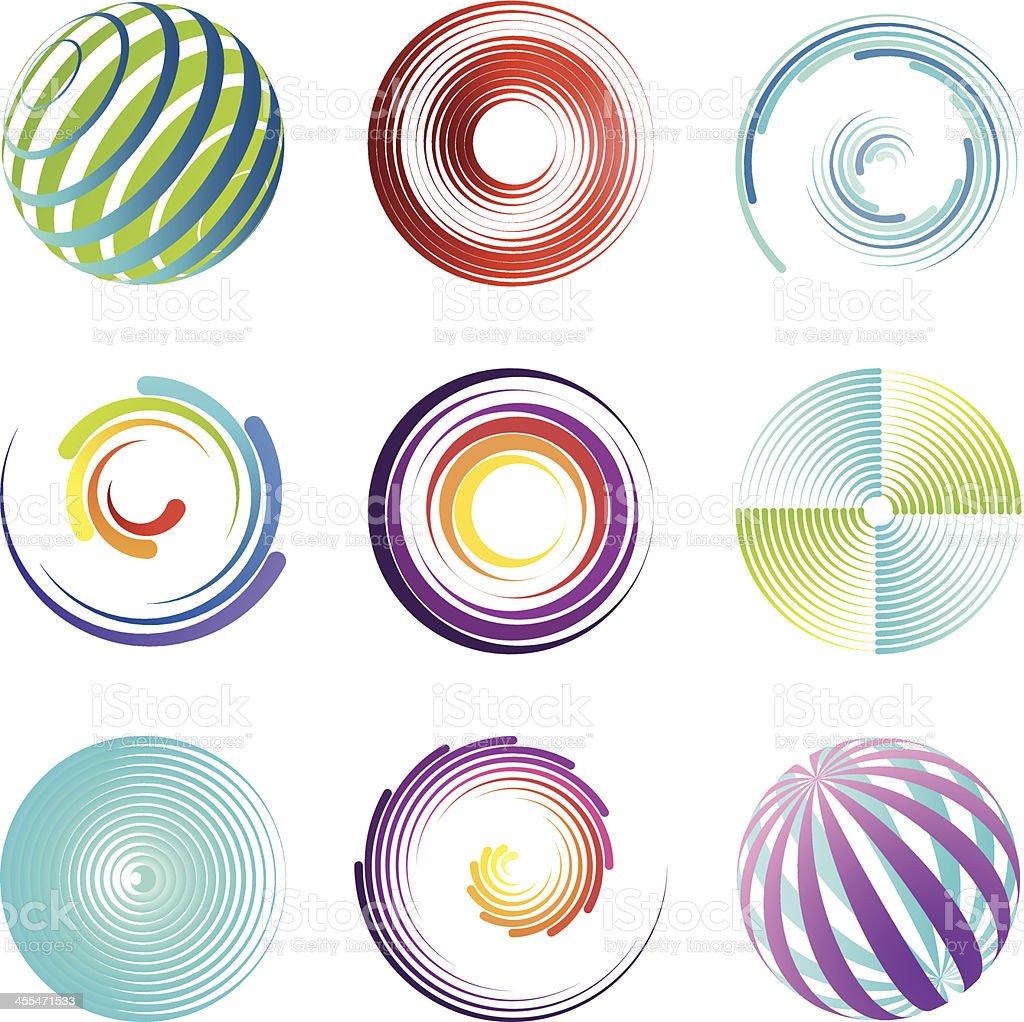 Design Elements | round set royalty-free stock vector art