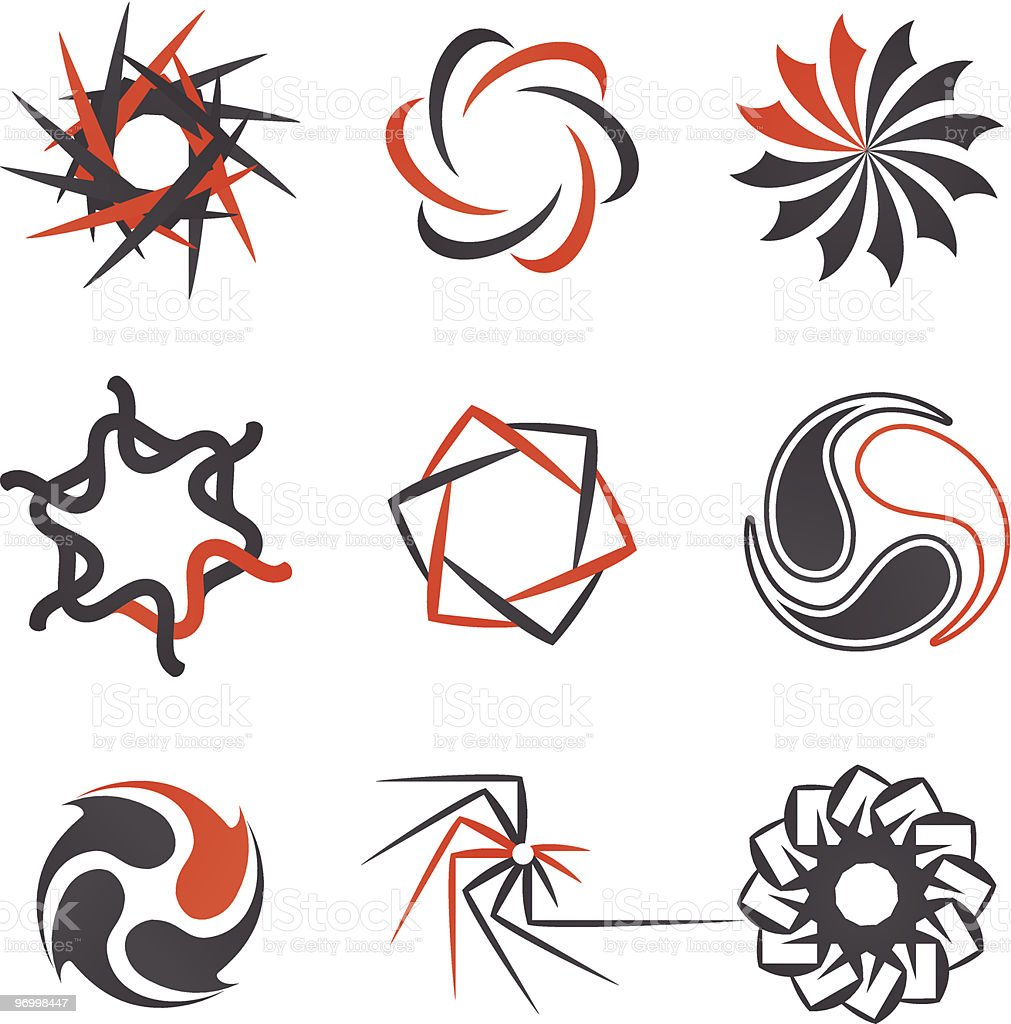 Design elements set 3 royalty-free stock vector art
