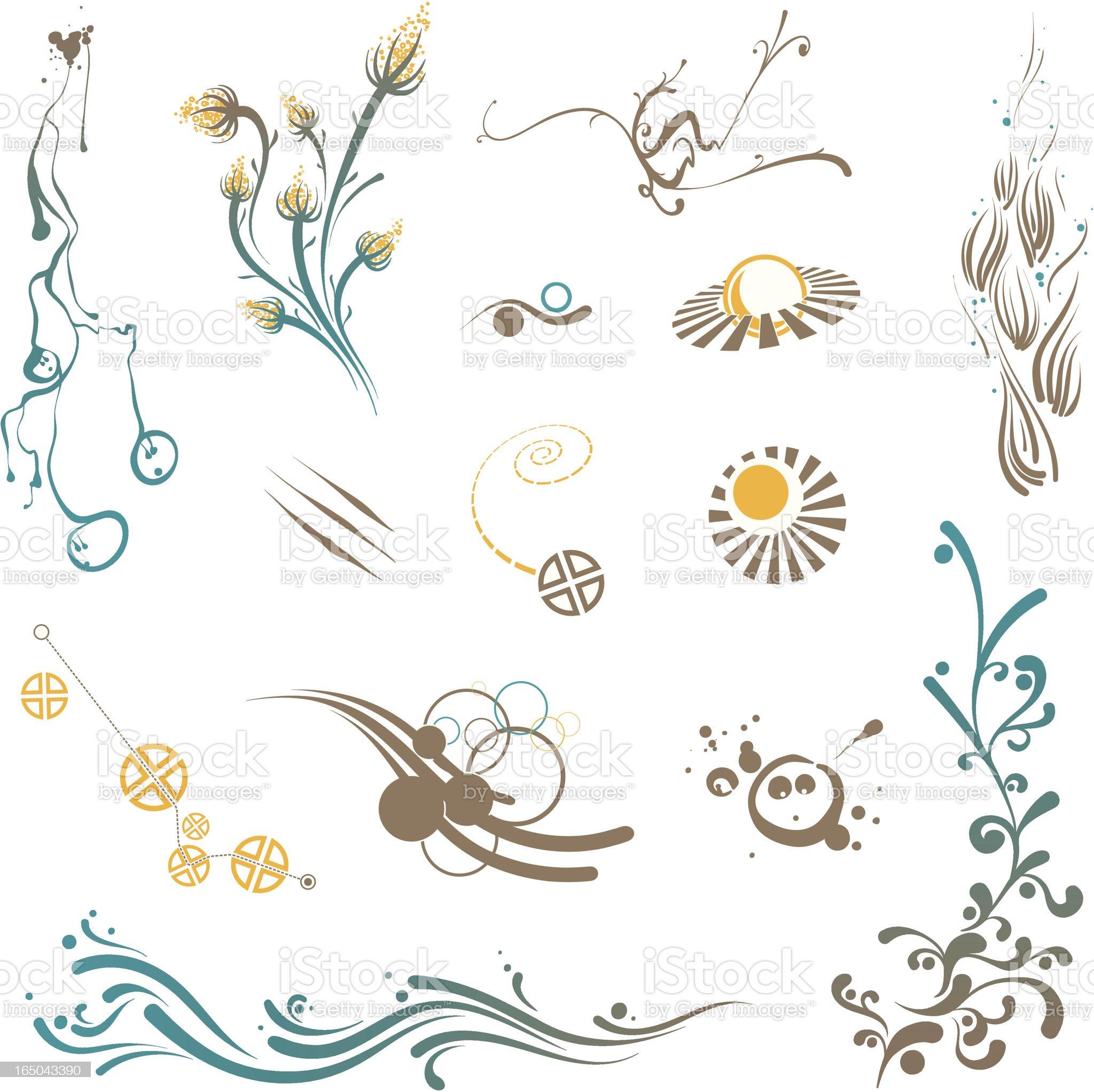 Design Elements Set, icons, symbols, geometric shapes royalty-free stock vector art