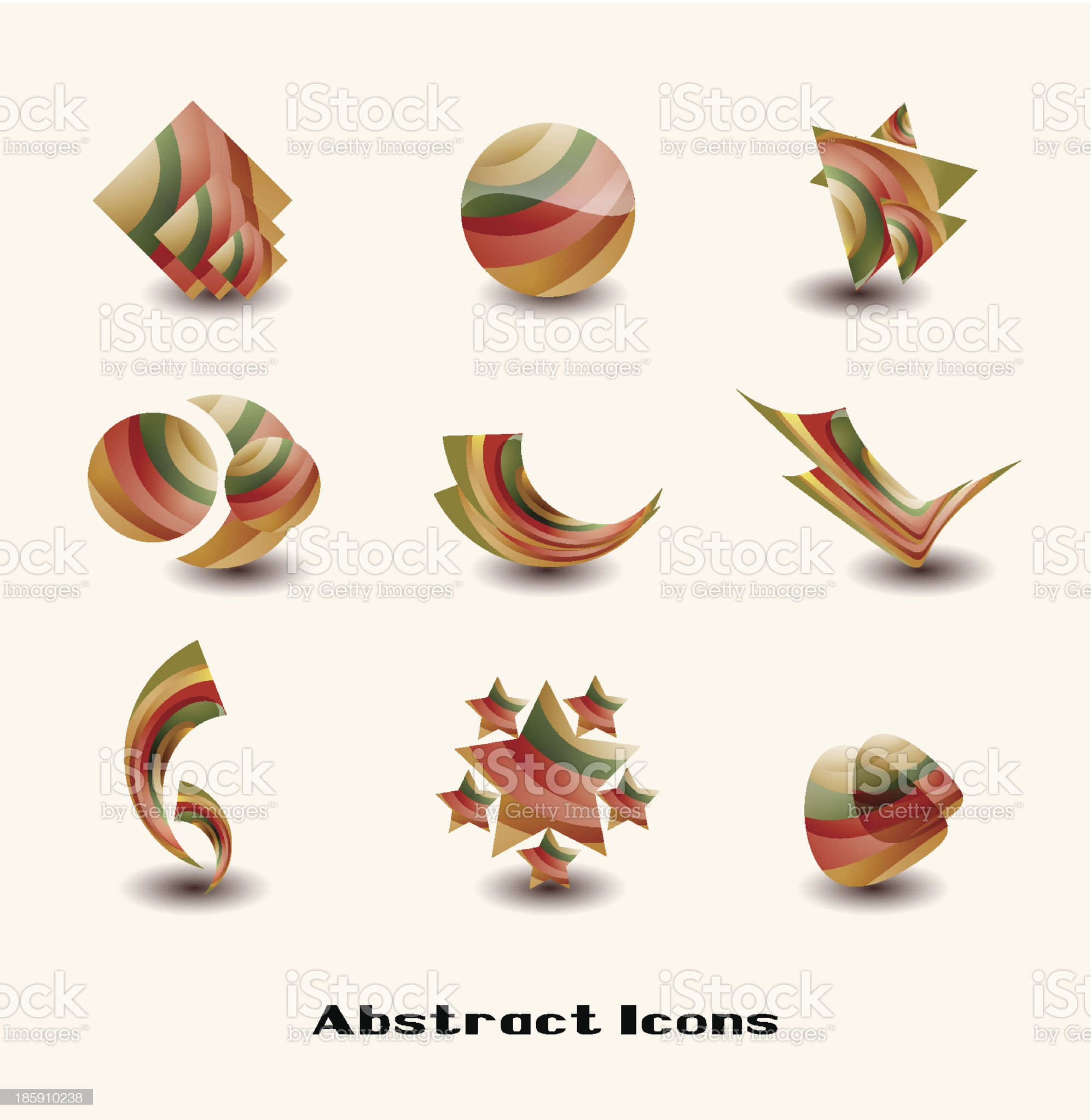 Design elements set royalty-free stock vector art