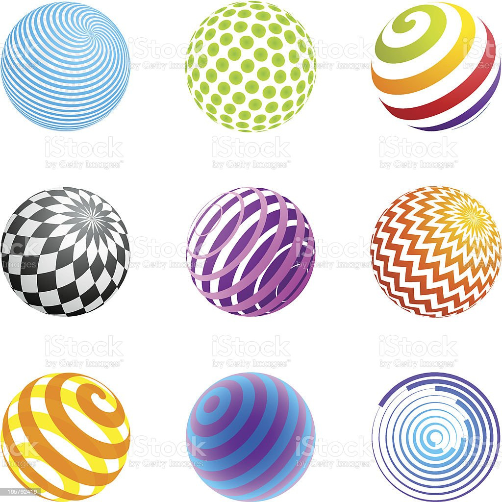 Design Elements | sphere set royalty-free stock vector art