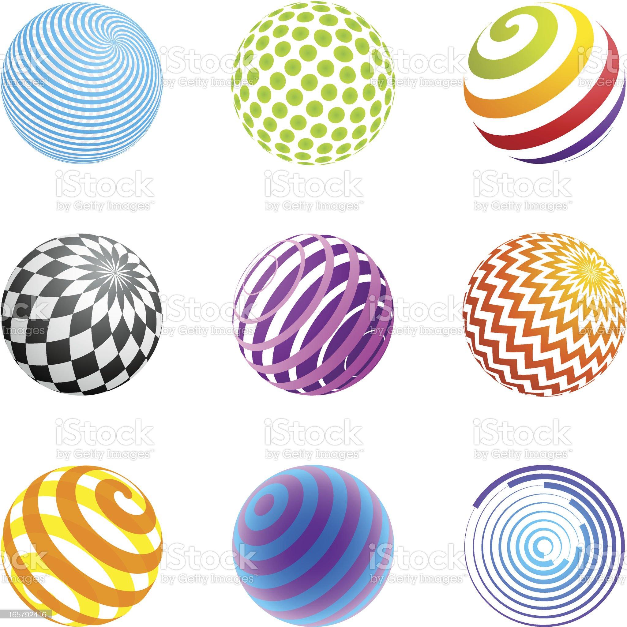 Design Elements | sphere set royalty-free stock vector art
