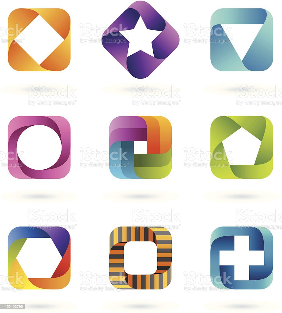 Design Elements | square set #1 royalty-free stock vector art