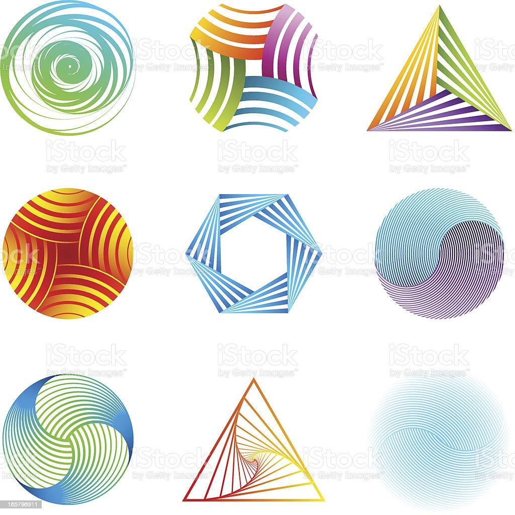 Design Elements | striped set vector art illustration