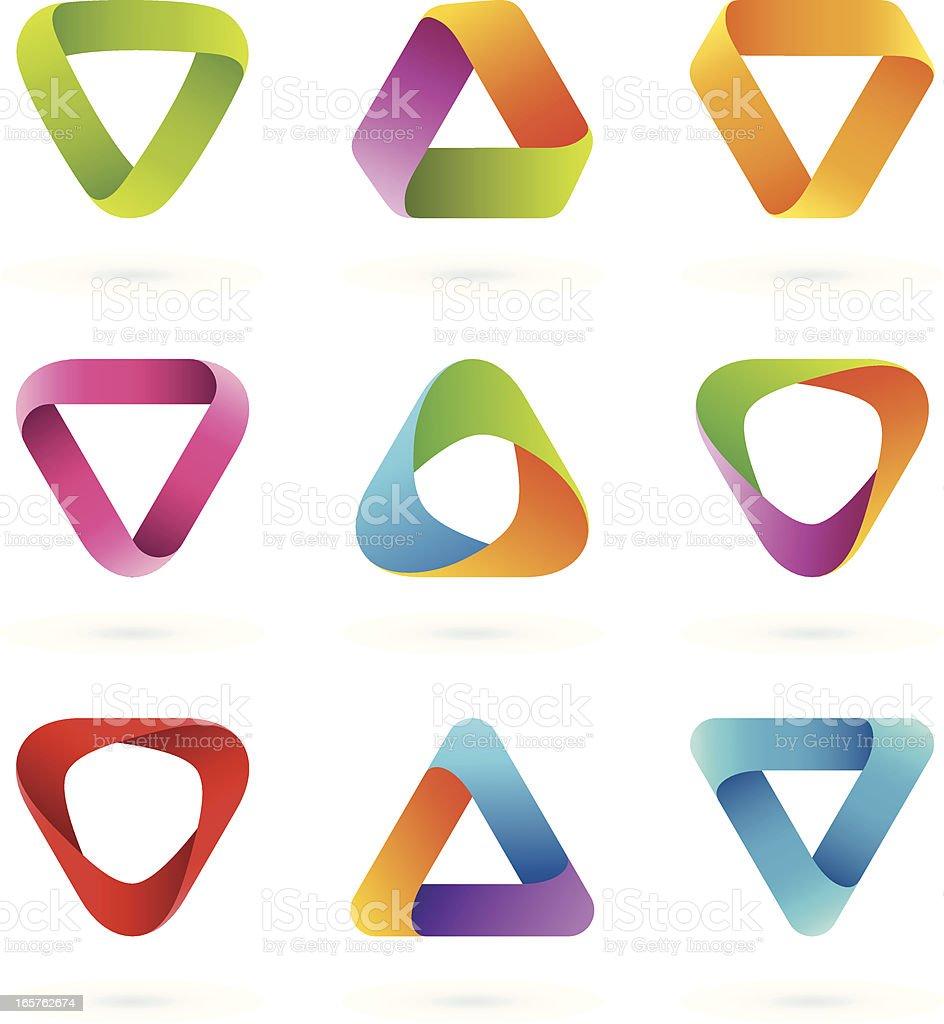 Design Elements | Striped symbols #5 royalty-free stock vector art