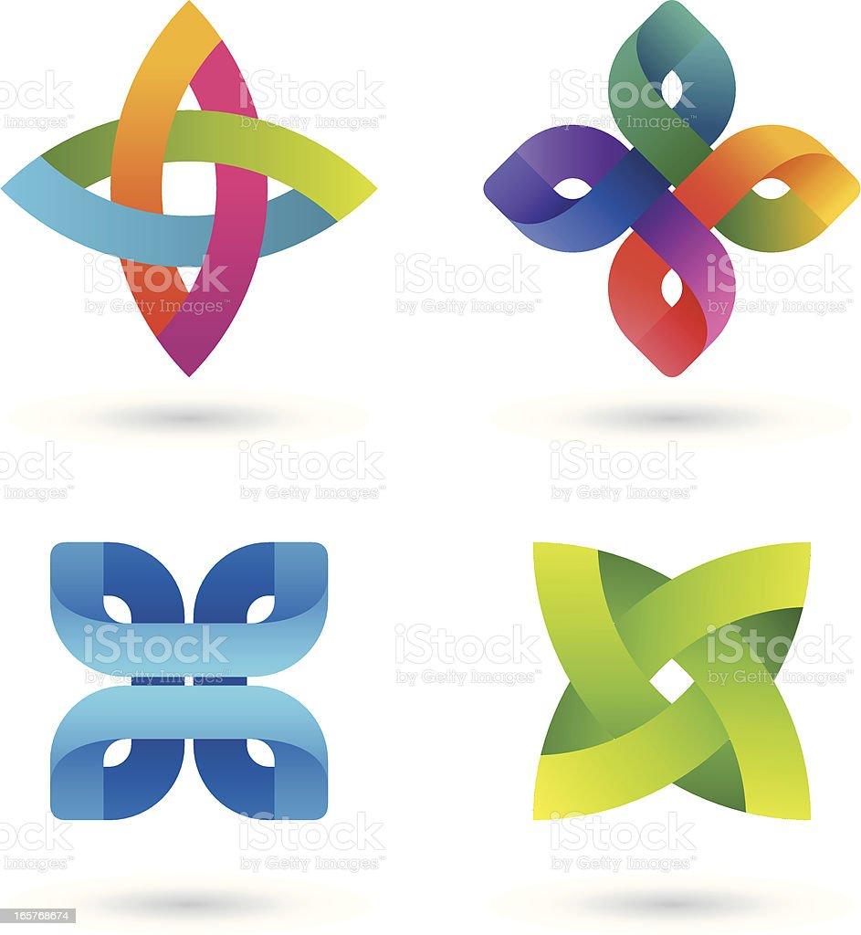 Design Elements   Striped symbols #2 royalty-free stock vector art