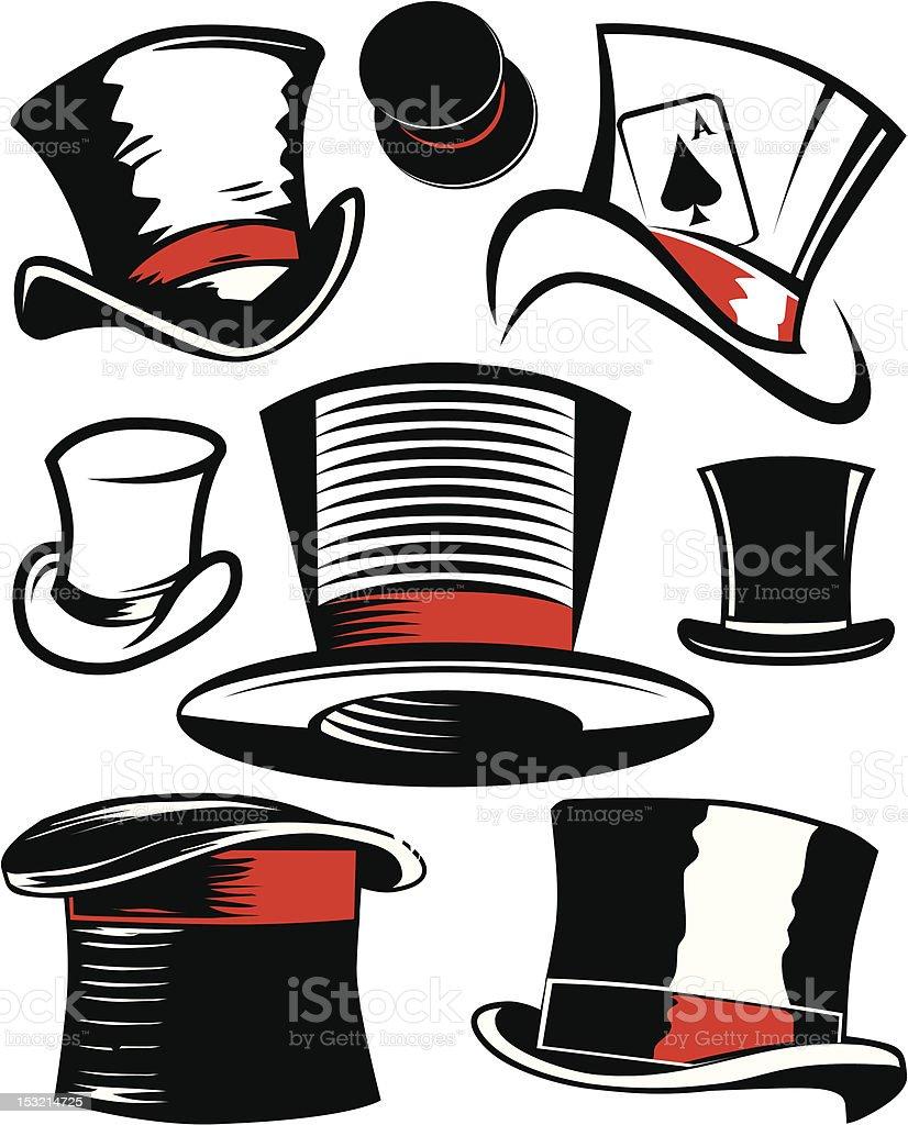 Design Elements - Top Hats royalty-free stock vector art