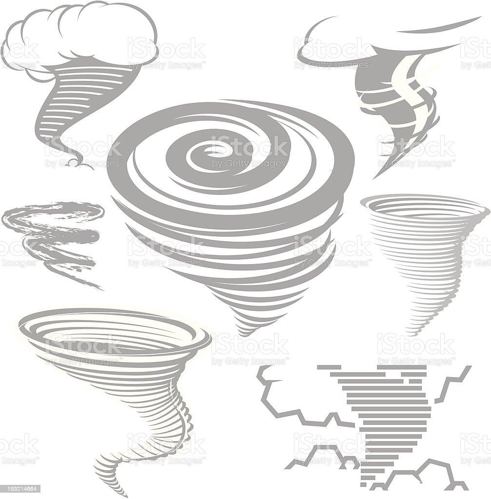 Design Elements - Tornados vector art illustration