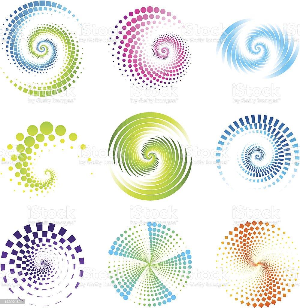 Design Elements | twirl & circle vector art illustration