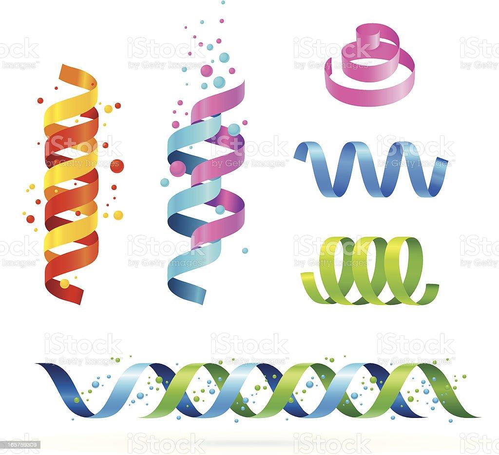 Design Elements (spirals) vector art illustration