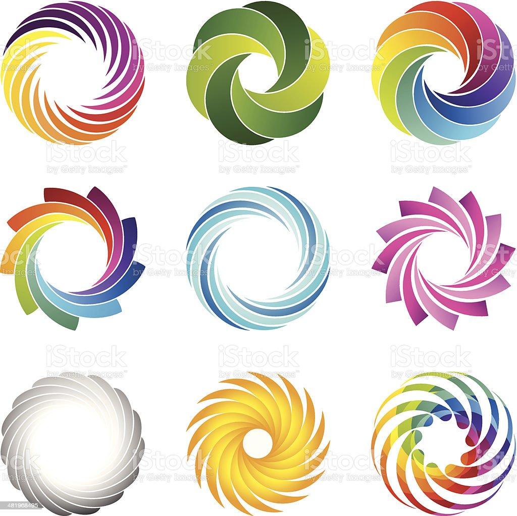 Design Elements (circles set #1) vector art illustration