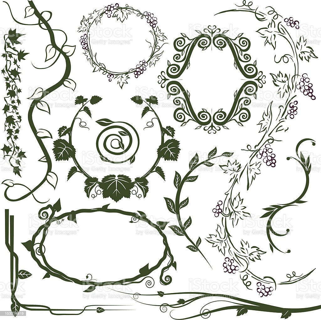 Design Elements - Vines vector art illustration