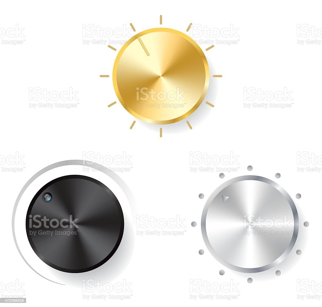 Design Elements: Volume Knobs royalty-free stock vector art
