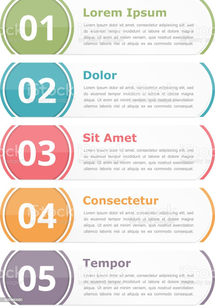 Design Elements with Numbers vector art illustration